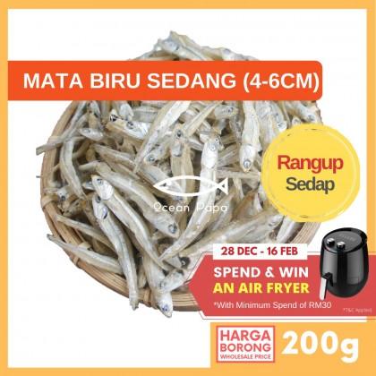 [Borong] Ikan Bilis Mata Biru / Bilis Putih Gred AAA - Ocean Papa (200G)